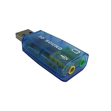 hoge kwaliteit usb 2.0-microfoon luidspreker audio-hoofdtelefoon met microfoon 3,5 mm jack converter geluidskaart adapter