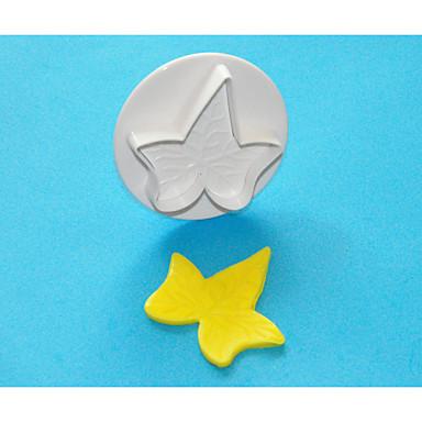 quatro c bolo folha de hera decoração êmbolo cortador, cortador de bolo de plástico de decoração do bolo ferramentas 1pcs