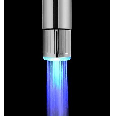 Işık kızdırma ışık-up led su musluk duş dokunun su memesi kafa ışık banyo mutfak musluklar