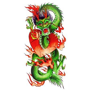 Séries Animal Tatuagem Adesiva - Estampado/Lombar/Waterproof - para Feminino/Adulto/Adolescente - de Papel - Multicolorido - 18.5*8.5cm 1