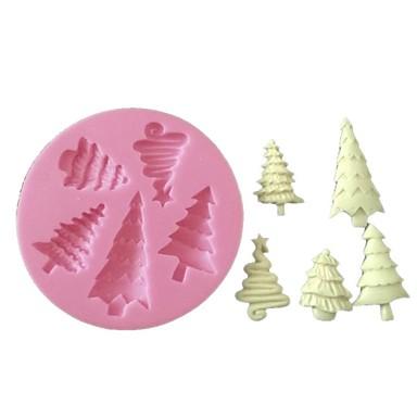 3d fondant siliconen taart decoreren schimmel kerstboom siliconen mal