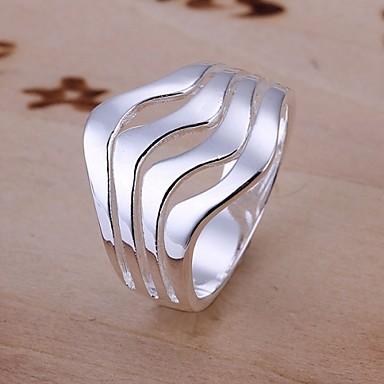 Kadın's Bildiri Yüzüğü - Som Gümüş Moda 8 Uyumluluk Düğün Parti Günlük