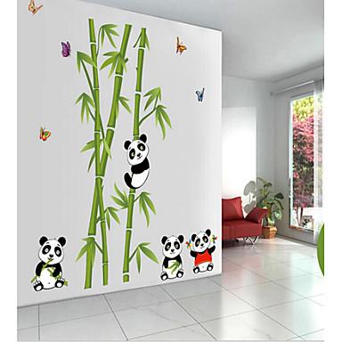 sevimli panda pvc duvar sticker