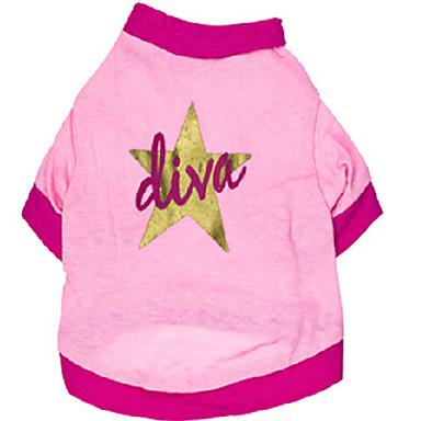 Gato Cachorro Camiseta Roupas para Cães Fantasias Casamento Estrelas Rosa claro Ocasiões Especiais Para animais de estimação