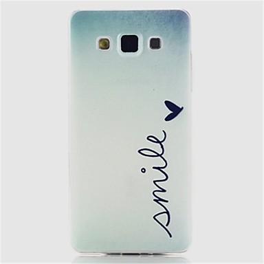 Para Samsung Galaxy Capinhas Estampada Capinha Capa Traseira Capinha Palavra / Frase TPU Samsung A5