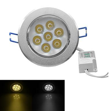 jiawen® 7W 630-700lm 3000-3200k / 6000-6500k luz quente branco / branco luzes led receseed (AC 100-240V)