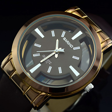 Men's Fashion Casual Dress Watch Quartz Analog Water Resistant/Hollow Engraving Cool Watches Unique Watches