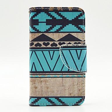 Capinha Para Nokia Lumia 630 / Nokia / Nokia Lumia 530 Capinha Nokia Carteira / Porta-Cartão / Com Suporte Capa Proteção Completa Estampa Geométrica Rígida PU Leather para