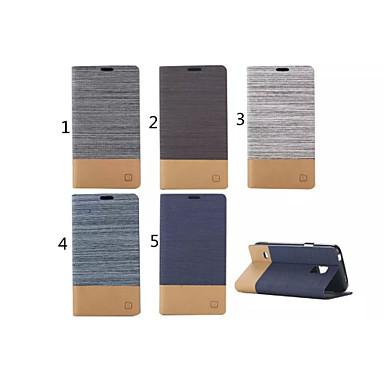Para Samsung Galaxy Capinhas Porta-Cartão / Com Suporte / Flip Capinha Corpo Inteiro Capinha Cor Única Couro PU Samsung S5 Mini