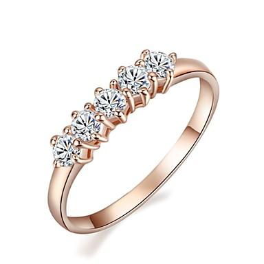 Dames Statement Ring Modieus Kristal Verguld Kostuum juwelen Bruiloft Feest Verloving Dagelijks Causaal