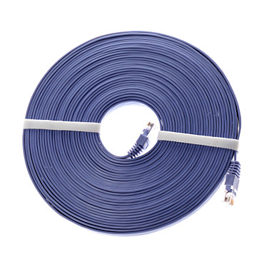 30 meter pvc cat 6 netwerkkabel rj45 aansluiten dsl / cable modem / hub / switch / router support 10/100 / snelheid van 1000 Mbps
