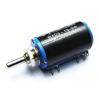 wxd3-13-2w 10kohm πολυ-στροφή ποτενσιόμετρο ακριβείας Wirewound - μαύρο + μπλε + ασήμι