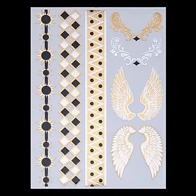 Tatoeagestickers - Non Toxic/Hawaiian/Onderrrug/Waterproof - Sieraden Series/Totem Series - voor Dames/Heren/Volwassene/Tiener - Meerkleurig - Papier