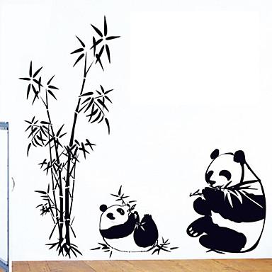 αφαιρούμενο πρότυπο panda PVC ετικέτες του περιβάλλοντος&αυτοκόλλητη ετικέτα