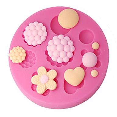 four-c taart decor schimmel knoppen kauwgom plakken schimmel cupcake topper, taart decoreren gereedschappen benodigdheden, fondant decoratie