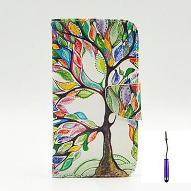 Capinha Para LG Capinha LG Porta-Cartão Carteira Com Suporte Flip Corpo Inteiro Árvore Rígida PU Leather para