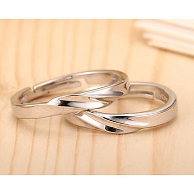Ανδρικά Γυναικεία Δαχτυλίδια Ζευγαριού 1 2 Ασήμι Στερλίνας Ασημί Γάμου Πάρτι Καθημερινά Causal Κοστούμια Κοσμήματα
