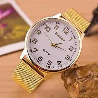 Γυναικεία Καθημερινό Ρολόι Χαλαζίας κράμα Μπάντα Χρυσό