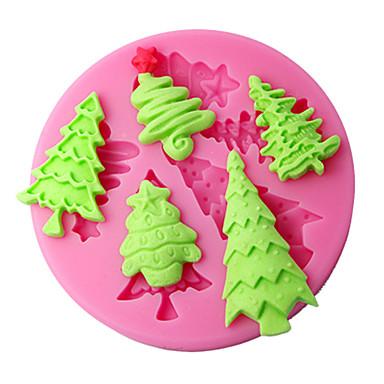 moldes bolo de decoração da árvore de natal de molde de silicone