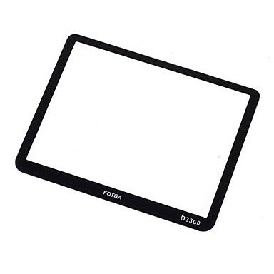 fotga® lcd protetor de tela rígida de vidro óptico para Nikon d3300 dslr