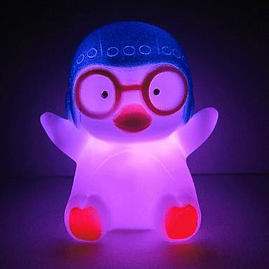 LED νύχτα φως Αδιάβροχη Μπαταρία Πολύχρωμο Ακρυλικό 1 Σετ Φώτων Συμπεριλαμβάνονται μπαταρίες 19.5*19.5*27.0cm