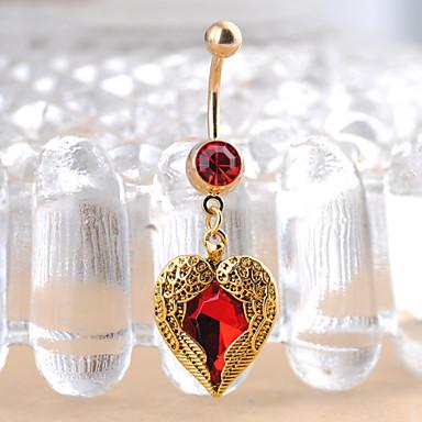 Δαχτυλίδι / Δακτύλιος της κοιλιάς Ανοξείδωτο Ατσάλι Καρδιά, Love Μοναδικό, Μοντέρνα Γυναικεία Χρυσό Κοσμήματα Σώματος Για Χριστουγεννιάτικα δώρα / Καθημερινά / Causal