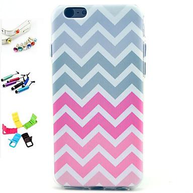 golfpatroon patroon patroon met stylus, anti-stof plug en stand TPU zachte hoes voor de iPhone 6 / 6s