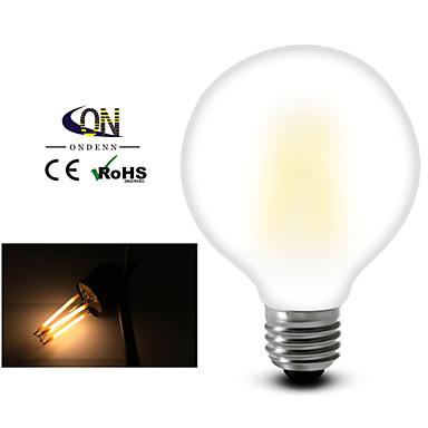 1pç 2800-3200 lm E26/E27 Lâmpadas de Filamento de LED G95 8 leds COB Regulável Branco Quente AC 110-130V AC 220-240V