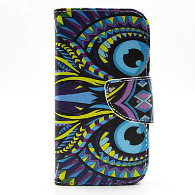 Voor Samsung Galaxy hoesje Kaarthouder / met standaard / Flip / Patroon hoesje Volledige behuizing hoesje Dier PU-leer Samsung J1