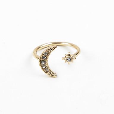 Γυναικεία Δαχτυλίδι - Στρας, Προσομειωμένο διαμάντι, Κράμα MOON Ρυθμιζόμενο Ασημί / Χρυσαφί Για Γάμου / Πάρτι / Καθημερινά