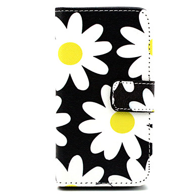 tok Για Nokia Θήκη Nokia Θήκη καρτών Πορτοφόλι με βάση στήριξης Πλήρης Θήκη Λουλούδι Σκληρή PU δέρμα για