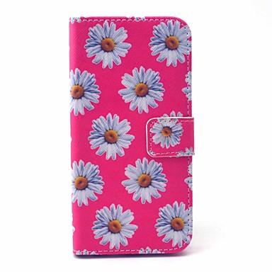Mert iPhone 6 tok / iPhone 6 Plus tok Pénztárca / Kártyatartó / Állvánnyal Case Teljes védelem Case Virág Kemény Műbőr AppleiPhone 6s