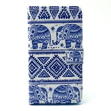 Para Samsung Galaxy Capinhas Porta-Cartão / Com Suporte / Flip / Estampada / Magnética Capinha Corpo Inteiro Capinha Elefante Couro PU