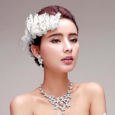 Dames Bergkristal Bruiloft Feest Speciale gelegenheden  Verjaardag Verloving Agaat Titanium Oorbellen Kettingen Tiara's