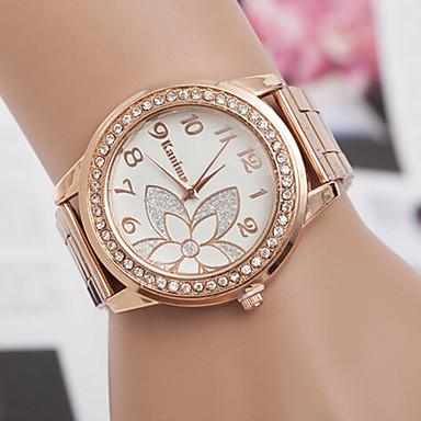 Mulheres Quartzo Relógio de Pulso Relógio Casual Lega Banda Amuleto / Fashion Prata / Ouro Rose