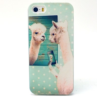 hoesje Voor iPhone 5 Apple iPhone 5 hoesje Patroon Achterkant dier Zacht TPU voor iPhone SE/5s iPhone 5
