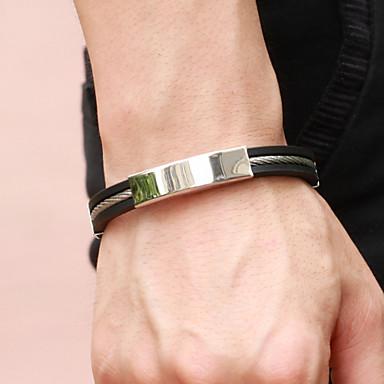 Heren Lederen armbanden Leder Titanium Staal Sieraden Bruiloft Feest Dagelijks Causaal Sport Kostuum juwelen
