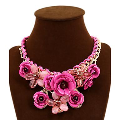 Dames Rozen Bloem Opvallende sieraden gevlochten Festival/Feestdagen Europees Verklaring Kettingen Synthetische Edelstenen Legering