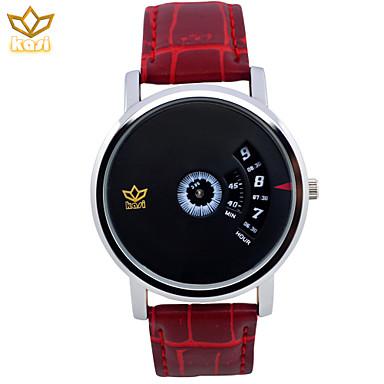 Ανδρικά Μοναδικό Creative ρολόι Ρολόι Φορέματος Χαλαζίας Χρονογράφος Καθημερινό Ρολόι Δέρμα Μπάντα Φυλαχτό Μαύρο