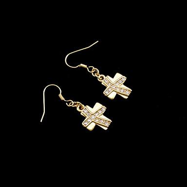 Γυναικεία Κρεμαστά Σκουλαρίκια Ζιρκονίτης Επιχρυσωμένο Cruce Κοσμήματα Γάμου Πάρτι Καθημερινά Causal Αθλητικά Κοστούμια Κοσμήματα