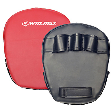 winmax® outdoor preto / vermelho boxe pá target / mão foco luva