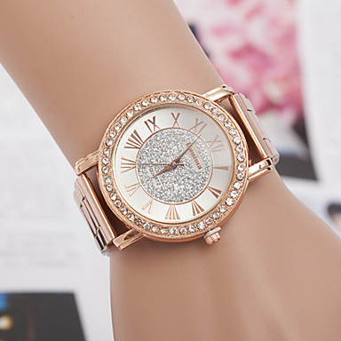 povoljno Ženski satovi-yoonheel Žene Luxury Watches Ručni satovi s mehanizmom za navijanje Diamond Watch Kvarc Metal Rose Gold dizajneri imitacija Diamond Švicarski Analog dame Šarm Simulirani Diamond Watch Moda - Rose Gold