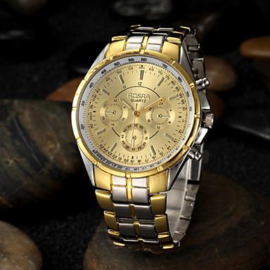Муж. Наручные часы Кварцевый сплав Группа Серебристый металл Золотистый