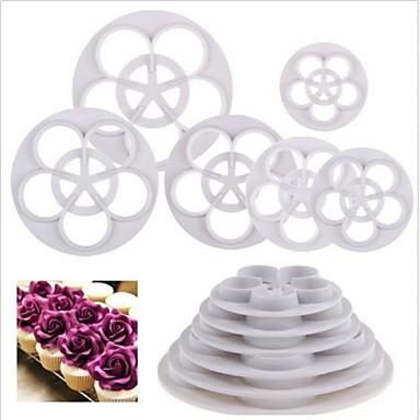 Bakeware araçları Plastik Çevre-dostu / Yapışmaz Kek / Kurabiye / Çikolota Tatlı dekoratörler 6pcs