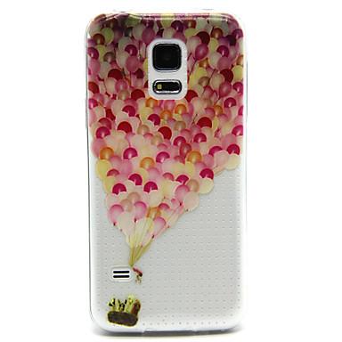 Para Samsung Galaxy Capinhas Transparente / Com Relevo Capinha Capa Traseira Capinha Balões PC Samsung S5 Mini