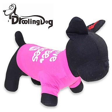 Kedi / Köpek Tişört Köpek Giyimi Harf & Sayı Gül Pamuk Kostüm Evcil hayvanlar için