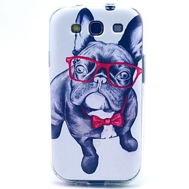 Para Samsung Galaxy Capinhas Estampada Capinha Capa Traseira Capinha Cachorro TPU Samsung S3