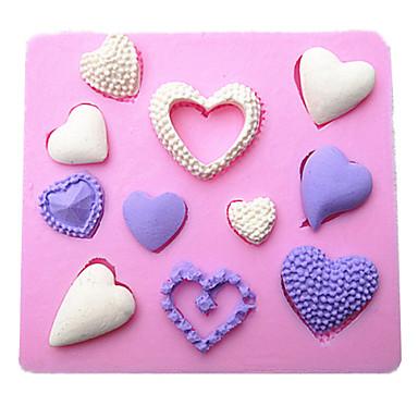 καρδιά σχήμα σιλικόνης καλούπια φοντάν κέικ σοκολάτας μούχλα για το ψήσιμο κουζίνα εργαλείο διακόσμηση sugarcraft