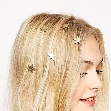 europese stijl mode gouden sterren draaien veerklem bruid hoofdtooi haarspeld (single)