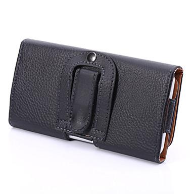 universele pu litchi clip buckle openen op en neer horizontale case opknoping vakken voor Samsung Galaxy S5 s6 s3mini a3